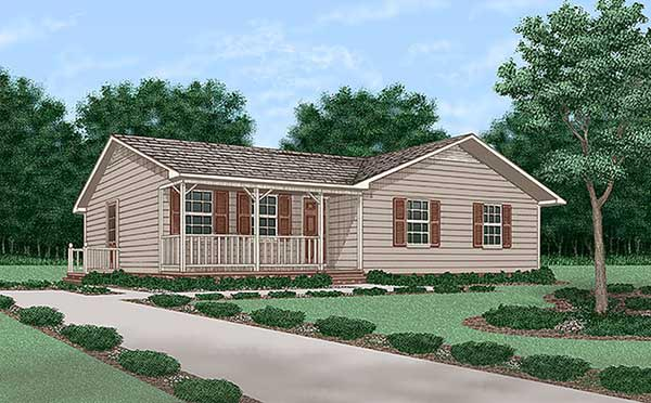 Ranch House Plan 45257 Elevation
