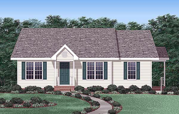Ranch Traditional House Plan 45258 Elevation