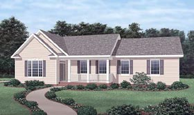 Traditional House Plan 45259 Elevation