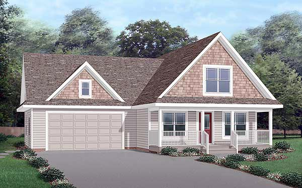 Traditional House Plan 45260 with 3 Beds, 3 Baths, 2 Car Garage Elevation