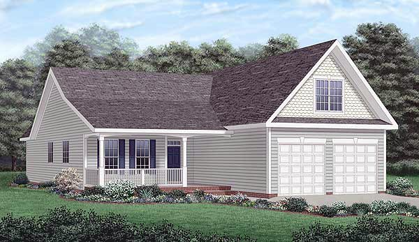 Country Traditional House Plan 45261 Elevation