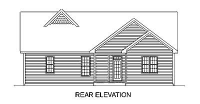 Country Traditional House Plan 45261 Rear Elevation