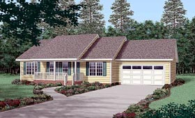 Ranch House Plan 45269 Elevation