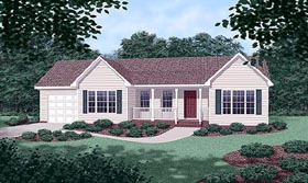 Ranch House Plan 45270 Elevation