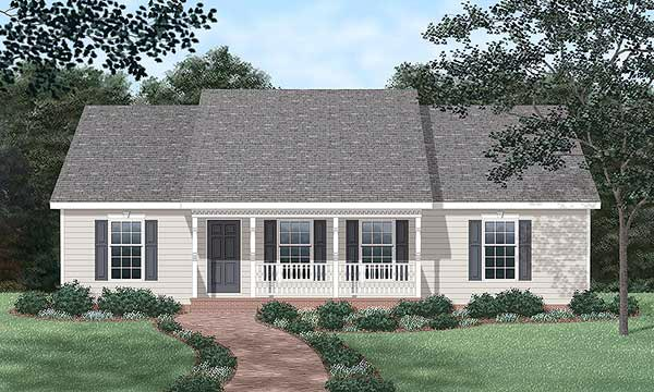 Ranch House Plan 45272 Elevation