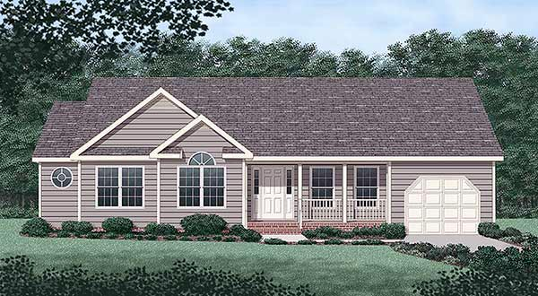 Ranch House Plan 45277 Elevation