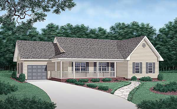 Traditional House Plan 45281 Elevation
