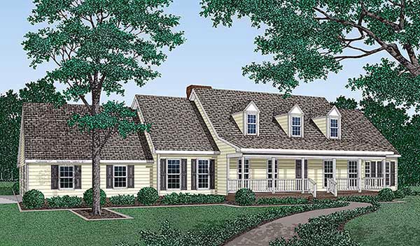 Cape Cod Country House Plan 45283 Elevation