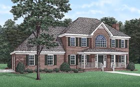 Traditional House Plan 45284 Elevation