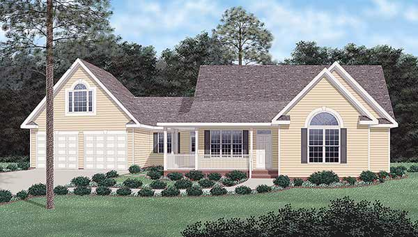 Traditional House Plan 45286 Elevation