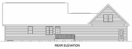 Traditional House Plan 45286 Rear Elevation