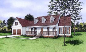 Cape Cod Country House Plan 45287 Elevation