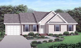 Ranch Traditional House Plan 45292 Elevation