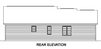 Ranch Traditional House Plan 45292 Rear Elevation