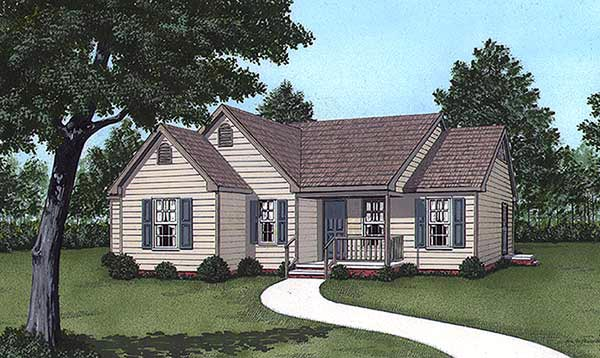 Traditional House Plan 45300 Elevation