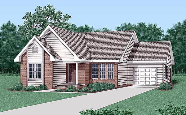 Traditional House Plan 45302 Elevation