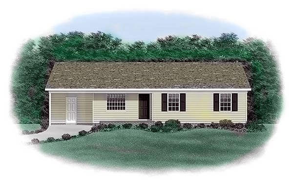 Ranch House Plan 45303 Elevation