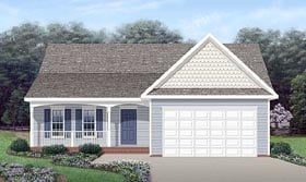 Plan Number 45304 - 1297 Square Feet