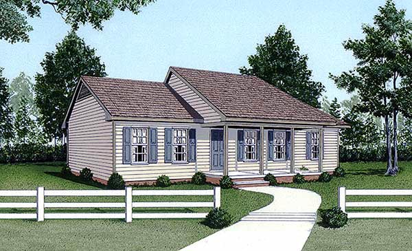 Ranch House Plan 45305 Elevation