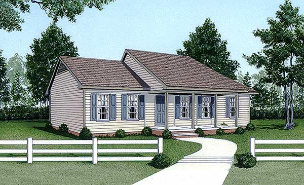 Ranch House Plan 45306 Elevation
