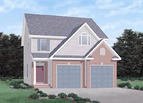House Plan 45308 | Traditional Style Plan with 1918 Sq Ft, 3 Bedrooms, 3 Bathrooms, 2 Car Garage Elevation