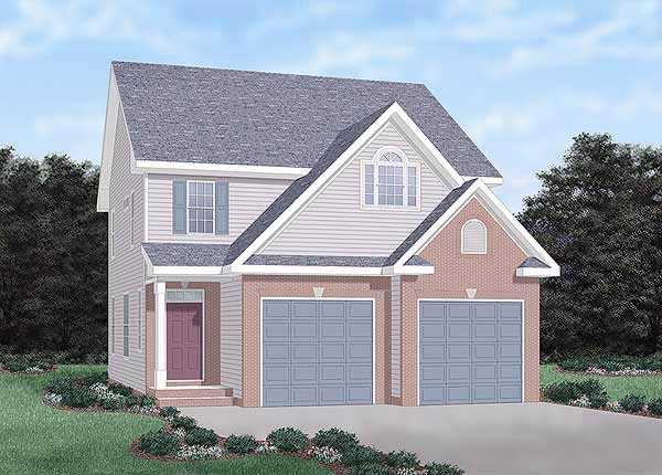 Traditional House Plan 45308 with 3 Beds, 3 Baths, 2 Car Garage Elevation