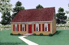 Colonial House Plan 45314 Elevation