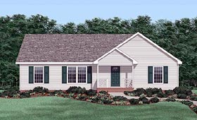 Ranch House Plan 45315 Elevation