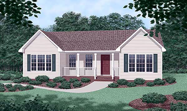 Ranch House Plan 45316 Elevation
