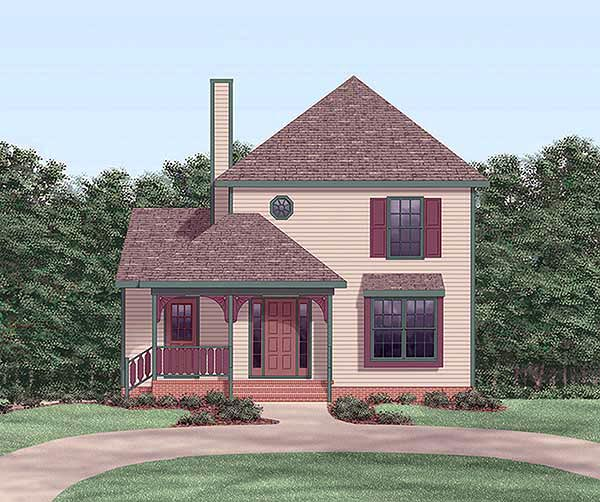 Traditional House Plan 45317 Elevation