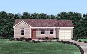 Ranch House Plan 45318 Elevation