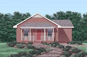 Ranch House Plan 45324 Elevation