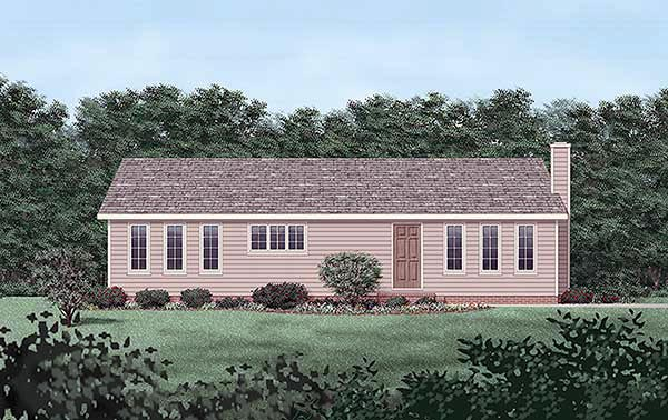 Ranch Elevation of Plan 45325
