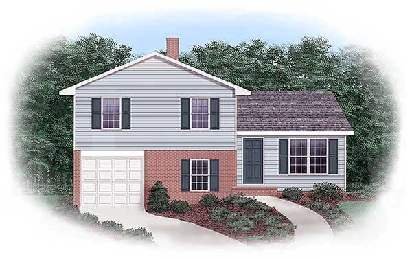 Narrow Lot, One-Story, Traditional House Plan 45331 with 3 Beds, 1 Baths, 1 Car Garage Front Elevation