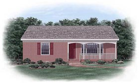 Ranch House Plan 45332 Elevation