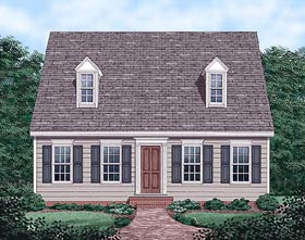 Cape Cod House Plan 45336 with 3 Beds, 3 Baths Elevation
