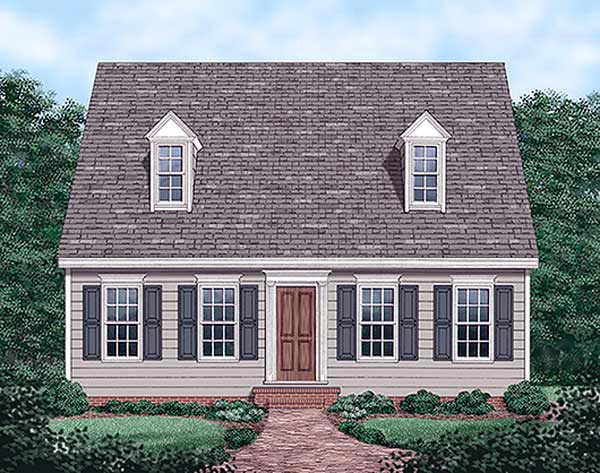 Cape Cod House Plan 45336 Elevation