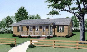 Ranch House Plan 45337 Elevation
