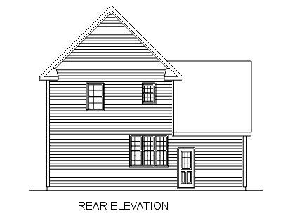 House Plan 45338 Rear Elevation