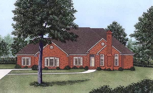 Traditional House Plan 45340 Elevation