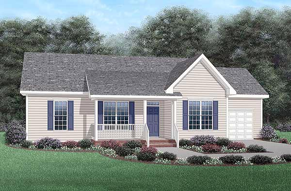 Ranch House Plan 45341 Elevation
