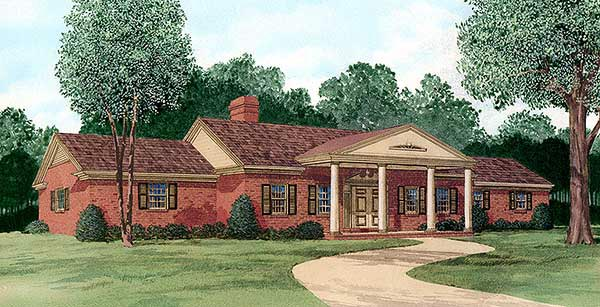 Ranch House Plan 45343 Elevation