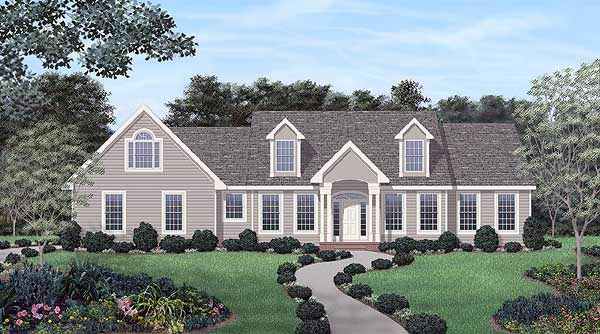 Traditional House Plan 45345 Elevation