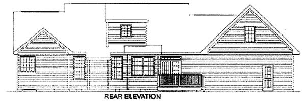 Traditional House Plan 45345 Rear Elevation
