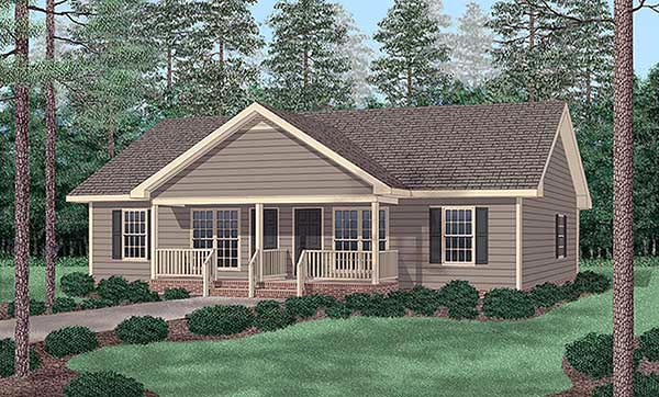 Multi family plan 45347 at for Modular quadplex