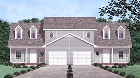 Country Multi-Family Plan 45354 Elevation