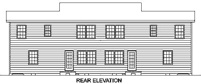 Country Rear Elevation of Plan 45354