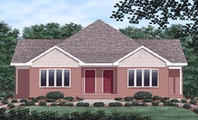 Traditional Multi-Family Plan 45359 with 4 Beds, 2 Baths Elevation