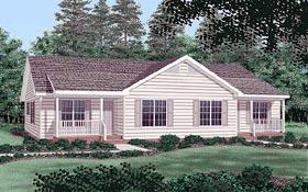 Multi-Family Plan 45360 Elevation