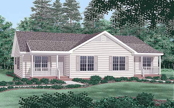 Multi-Family Plan 45360 with 4 Beds, 4 Baths Elevation